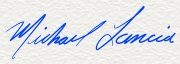 Handwritten signature graphic